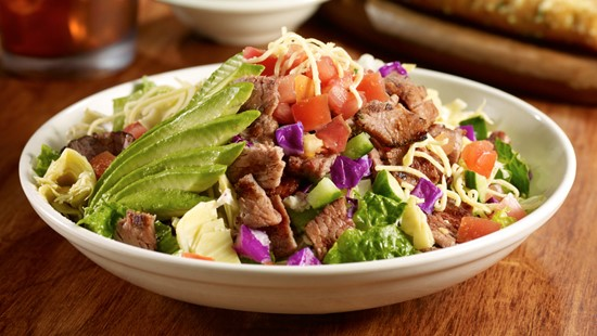 Craft your own salad at Stonefire Grill.